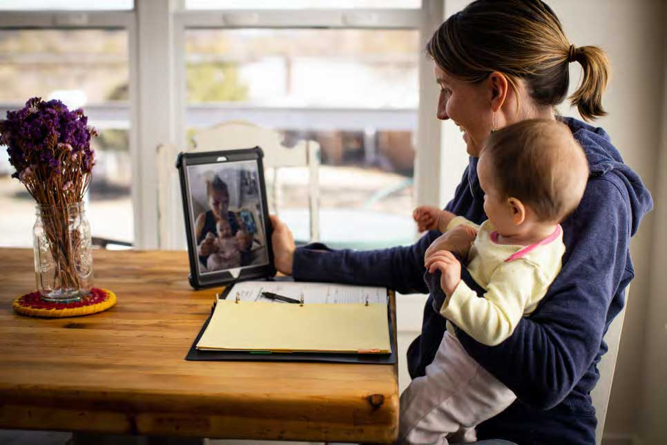 woman-baby-tablet